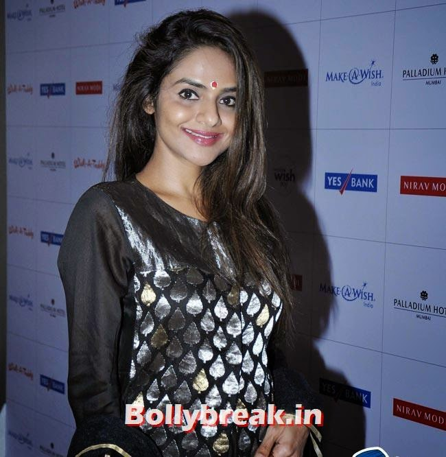 Madhoo, Manasi Scott, Madhoo at Make a Wish Foundation Fundraising Event
