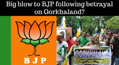 Big blow to BJP following betrayal on Gorkhaland?