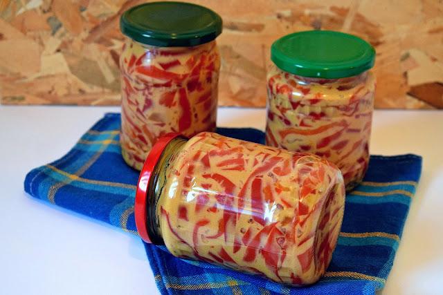 Paprike u senfu zimnica