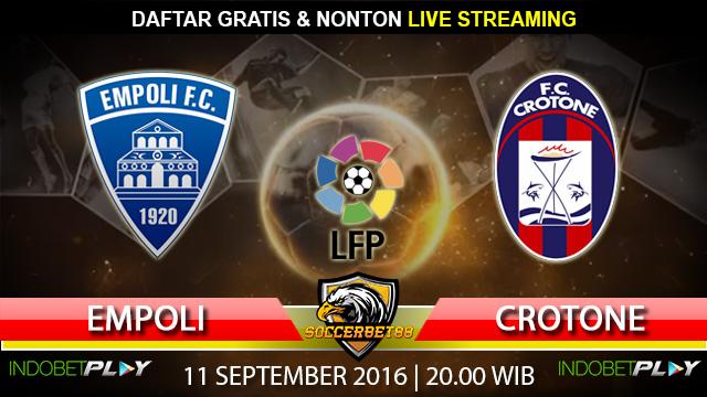 Prediksi Empoli vs Crotone 11 September 2016 (Liga Italia)