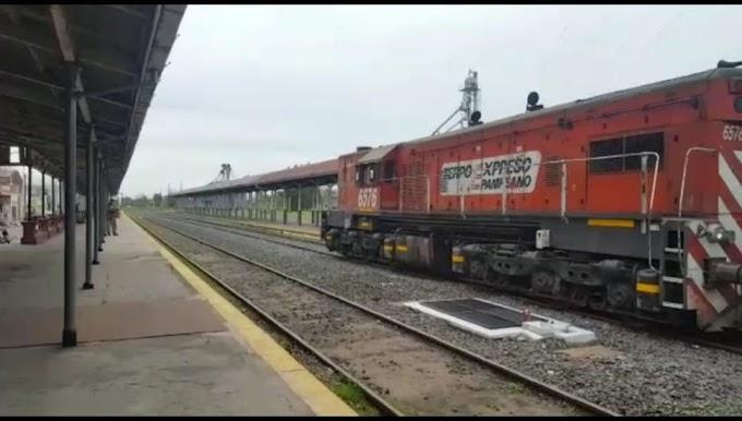 Volvió el tren de cargas a Bragado después de tres años
