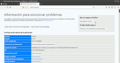 Restablecer Firefox