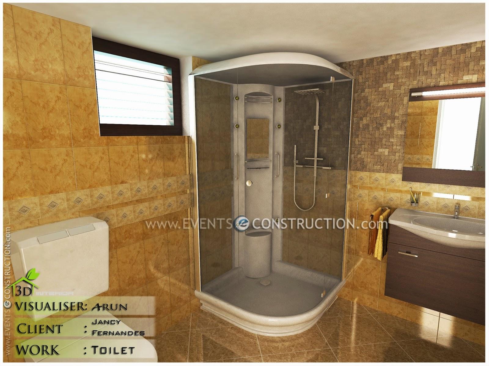 Evens Construction Pvt Ltd: Modern kerala bathroom design