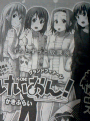 k-on nuevamente manga final anuncio
