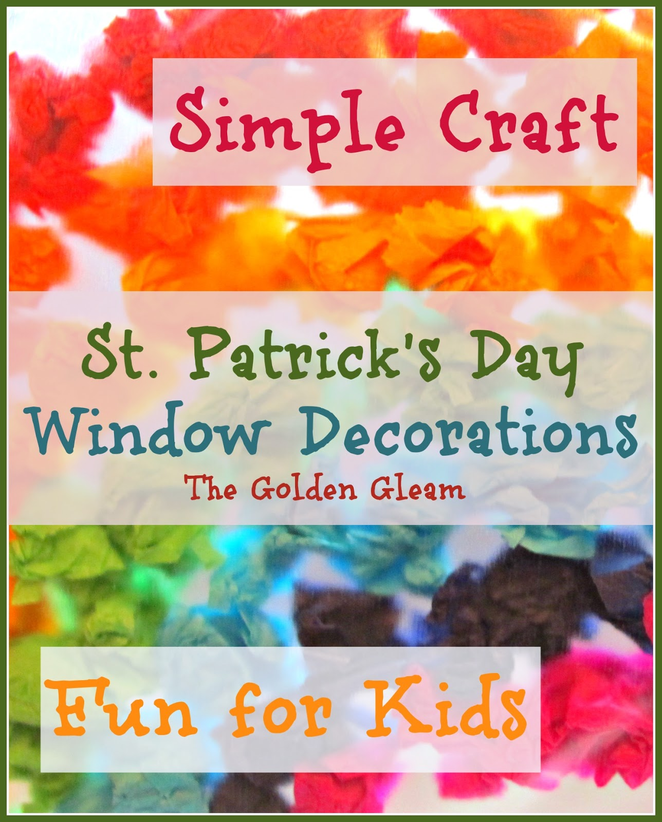 The Golden Gleam: St. Patrick's Day Window Decorations