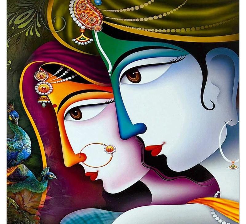 radha krishna painting for bedroom image