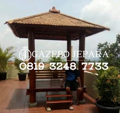 Gazebo Kayu Atap Sirap