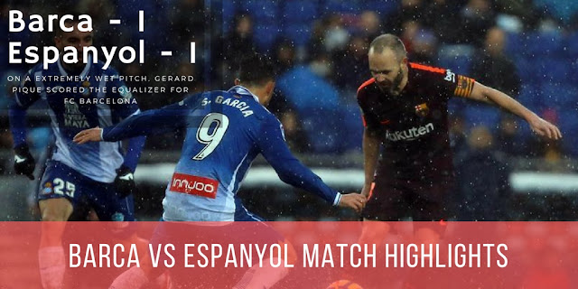 Andres Iniesta was instrumental in the 1-1 draw against Espanyol
