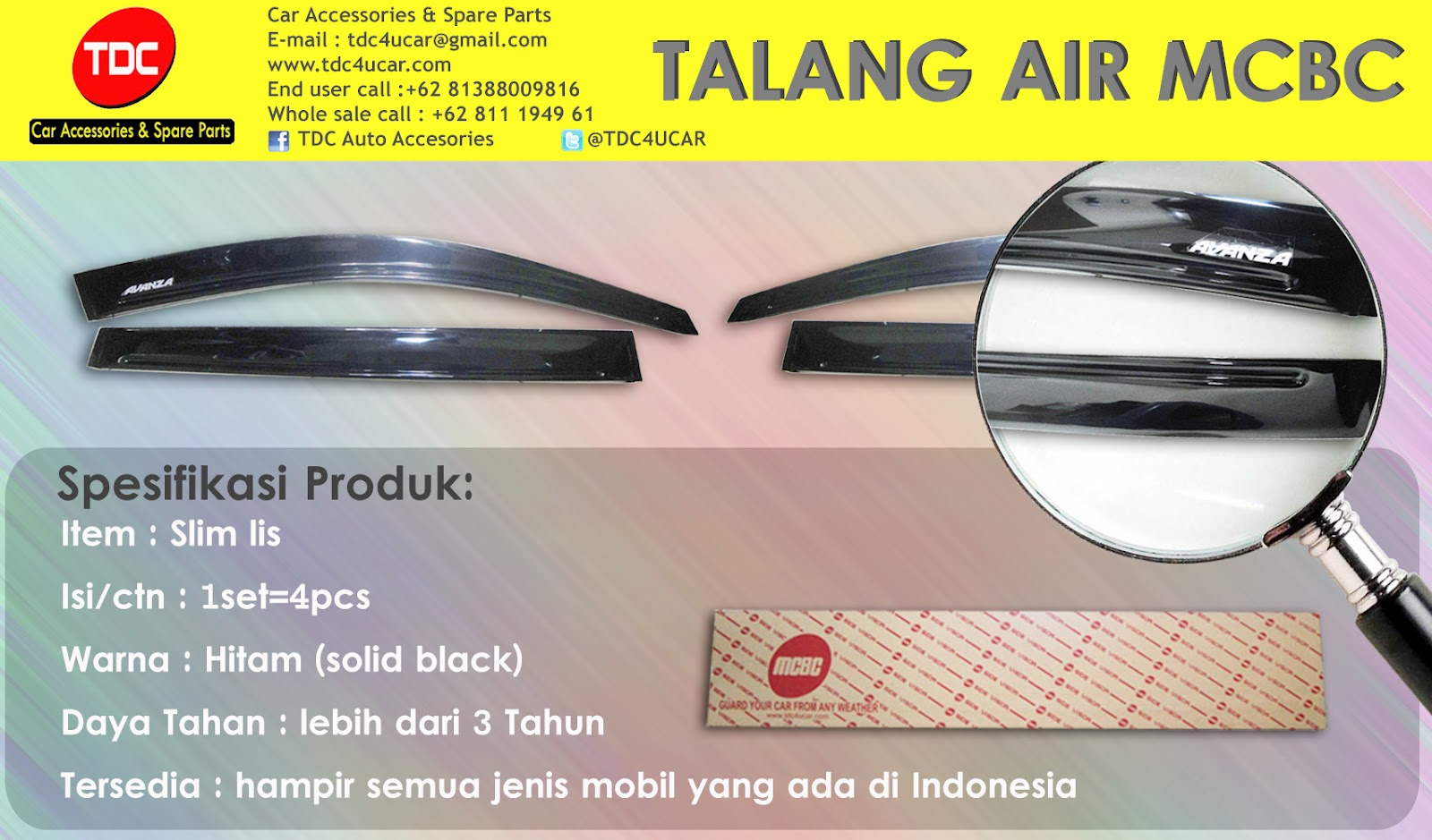 variasi mobil Jenis Talang air