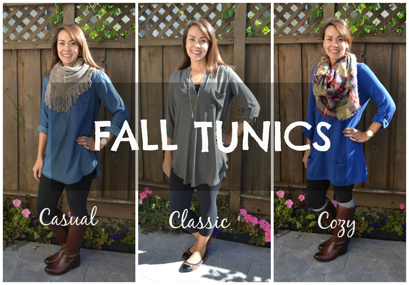 what to wear with tunics
