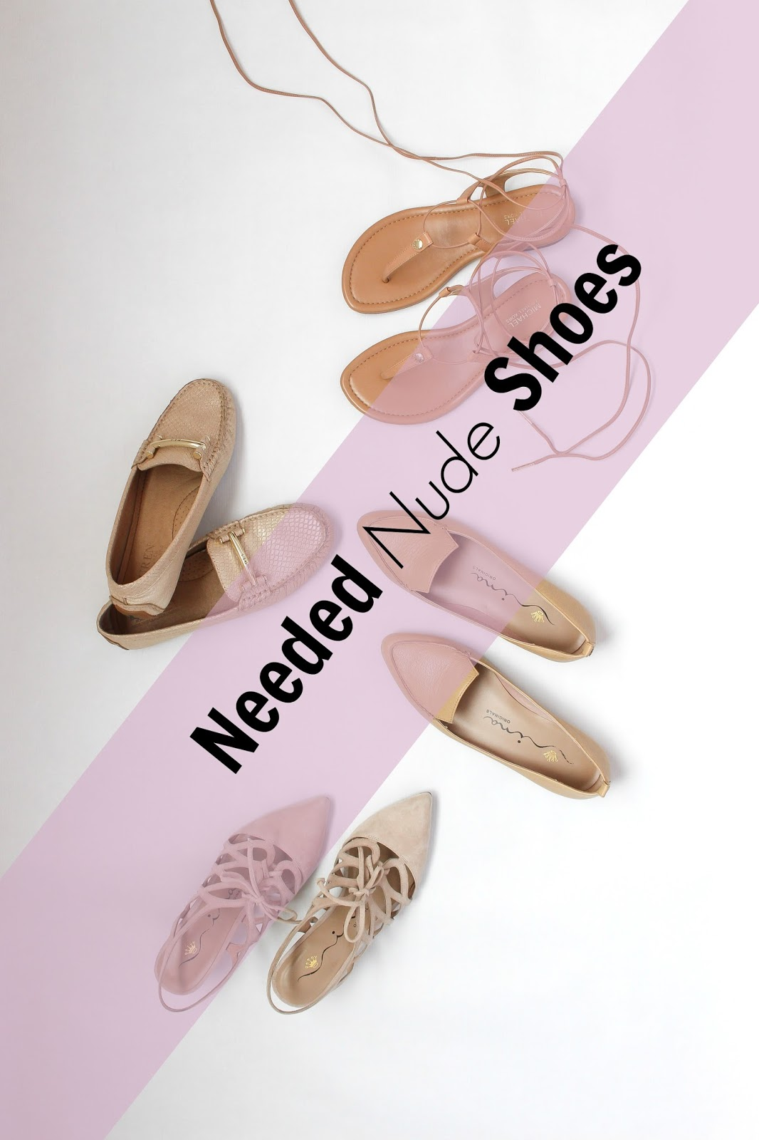 nude sandals, nude loafers, nude heels