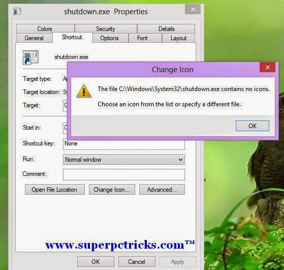 Creating Shutdown shortcut in Windows 7