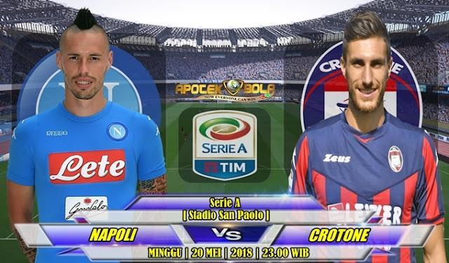 Prediksi Napoli vs Crotone 21 Mei 2018