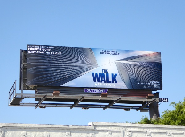 The Walk film billboard