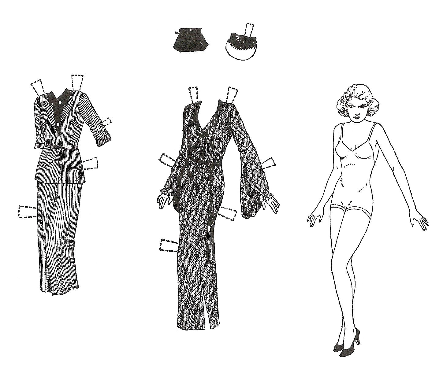 Mostly Paper Dolls Too!: JEAN HARLOW Paper Doll