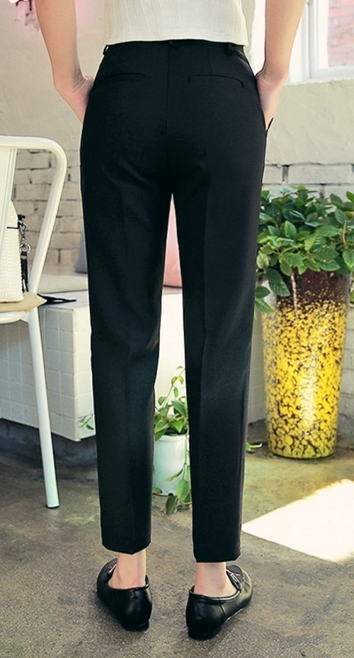 High Rise Side Pocket Slacks
