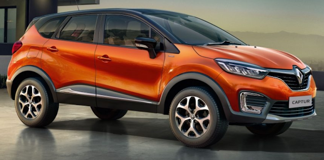 Renault Capture Crossover orange color