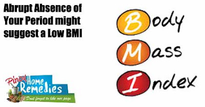 Abrupt Absence of Your Period might suggest a Low BMI