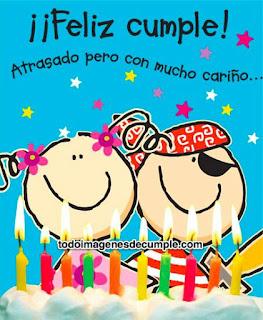 Tarjetas de cumpleaños atrasado para compartir