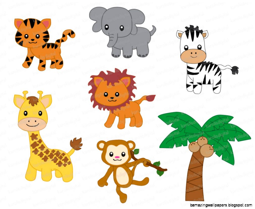 free clip art baby safari animals - photo #13