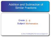 Smartboards Interactive: Addition and Subtraction of Similar Fractions