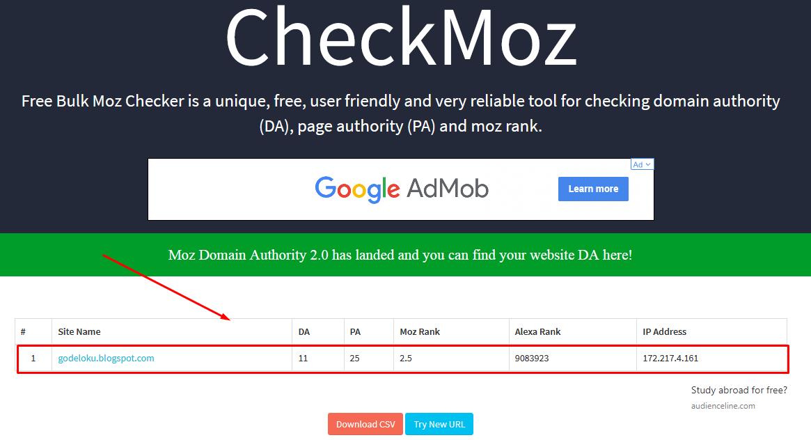 Beberapa Faktor Penyebab DA ( Domain Authority ) dan PA ( Page Authority ) Turun dan Naik