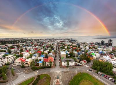 recorrer islandia en invierno vistas de Reikiavik