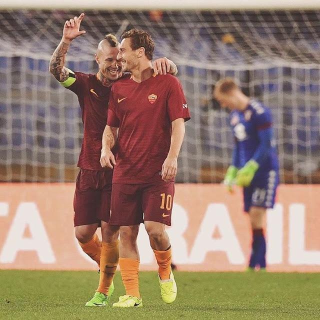 Radja Nainggolan Francesco Totti Roma