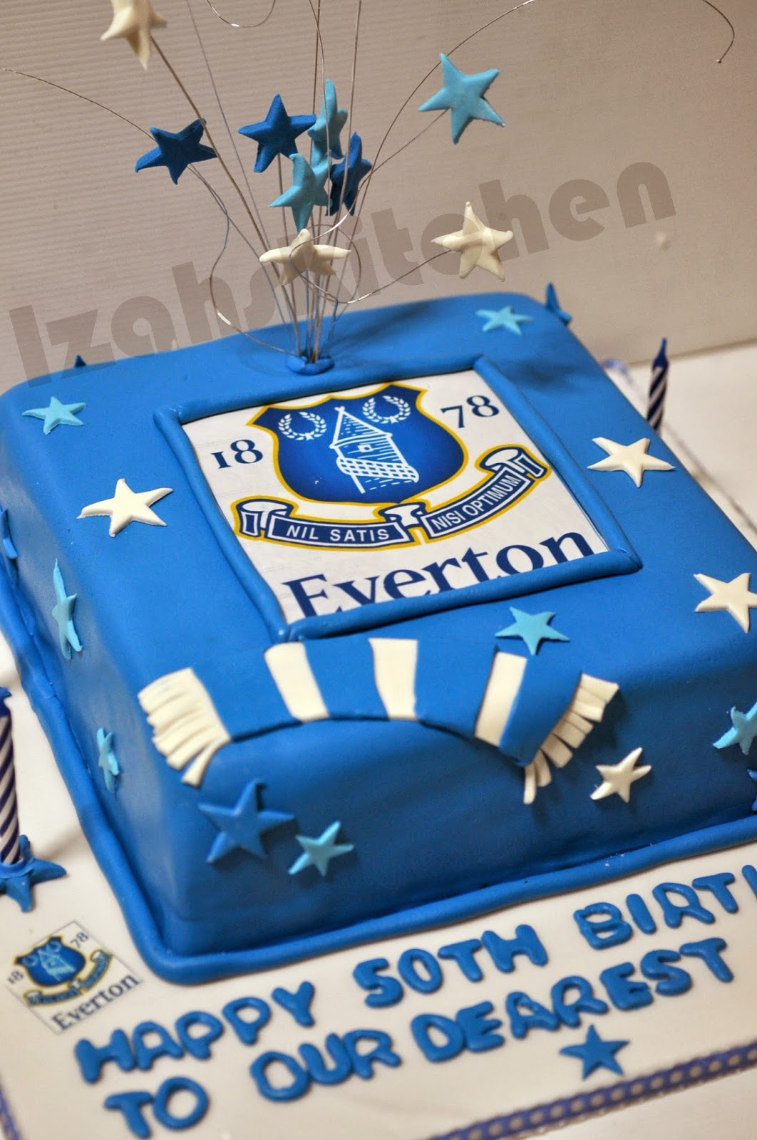 Everton FC Themed Cake