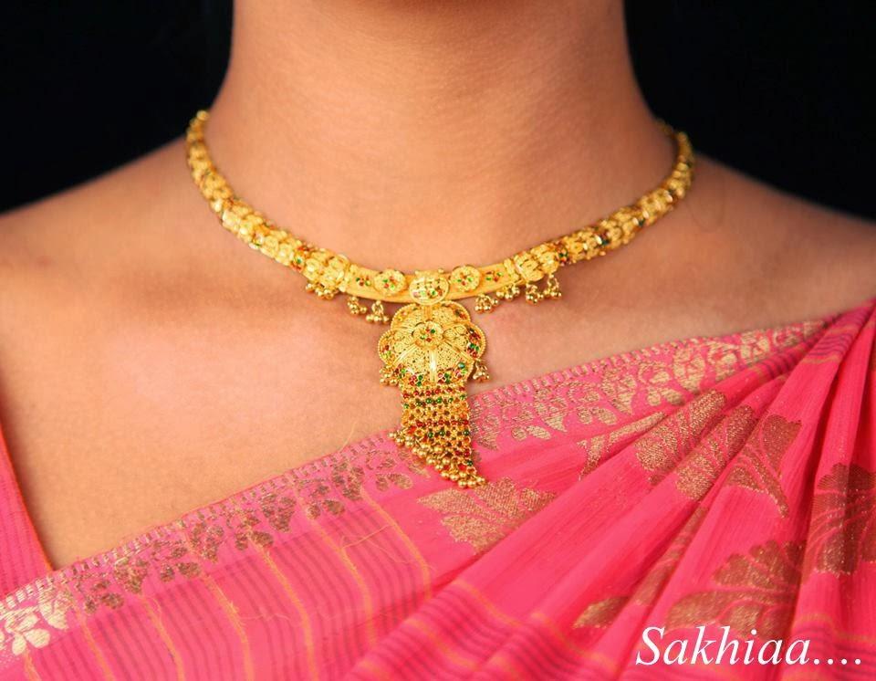 Sakhiaa 24 karat gold necklace sets