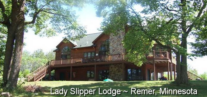 Lady Slipper Lodge in Remer, Minnesota - Four-Bedroom Luxury on Two Lakes and 32 Private Acres