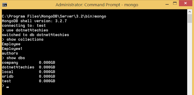 MongoDB Commands