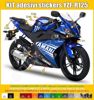 Yamaha YZF R125 Sticker decal kits