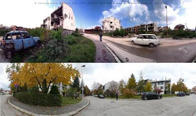 Bombed-out Dobrinja suburb, Sarajevo 1997