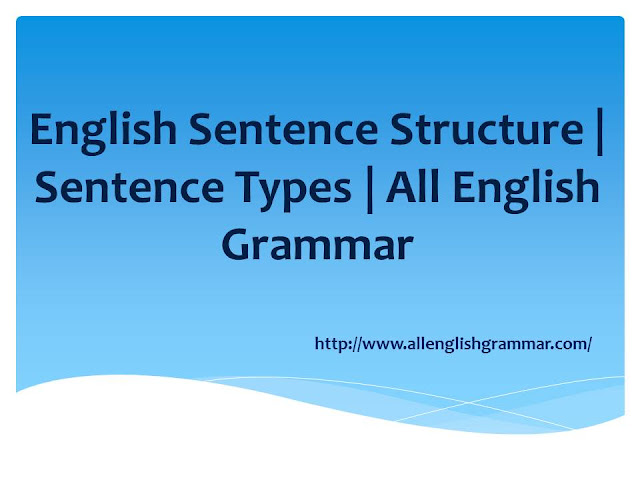 English-Sentence-Structure-Sentence-Types