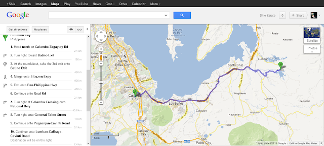 Google map to Porta Verde