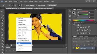 edit background foto seleksi bagian