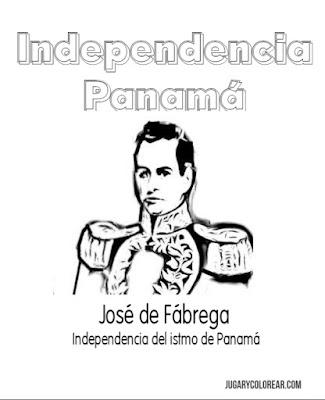 Colorear prócer Independencia Panamá José de Fábrega