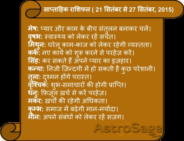 Jane, aane wale is saptah mein kaisa rahega apka bhavishya phal.