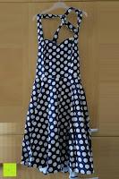 Erfahrungsbericht: VKStar® Vintage 50er 60er Tupfe Neckholder Retro Cocktailkleid Rockabilly Audrey Hepburn Swing Kleid Kurz Damen Abendkleid