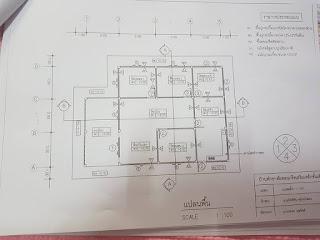 แบบบ้านชั้นเดียว 3 ห้อง นอน 1 ห้องน้ำ