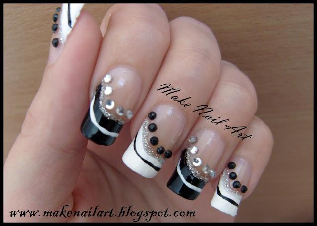 make nail art black and white prom nails nail art tutorial