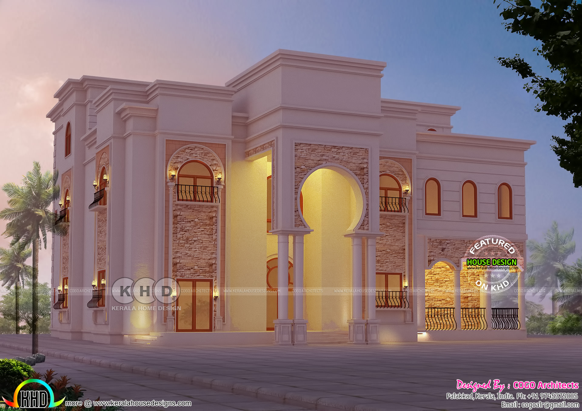 Arab Style House Architecture In Kerala Kerala Home Design And Floor Plans 8000 Houses