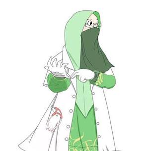 kartun muslimah pakek cadar