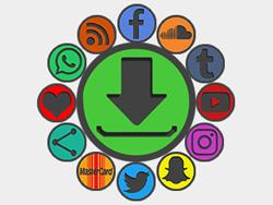 Outline Blackout Social Buttons