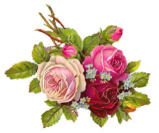 rose leaves stems flower image digital clip art crafting
