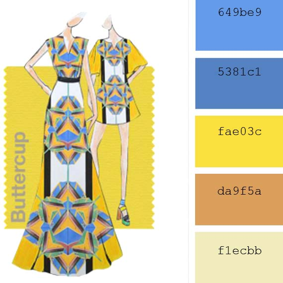 Pantone Fashion Colors spring 2016 yellow buttercup