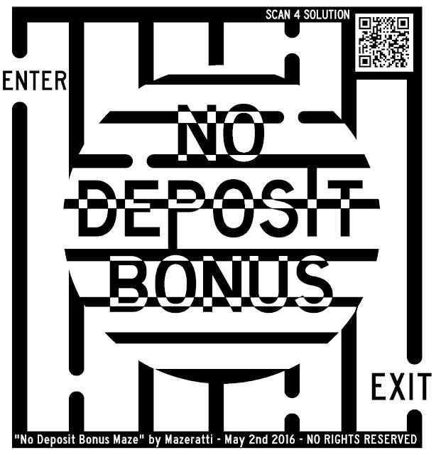 no deposit bonus maze art