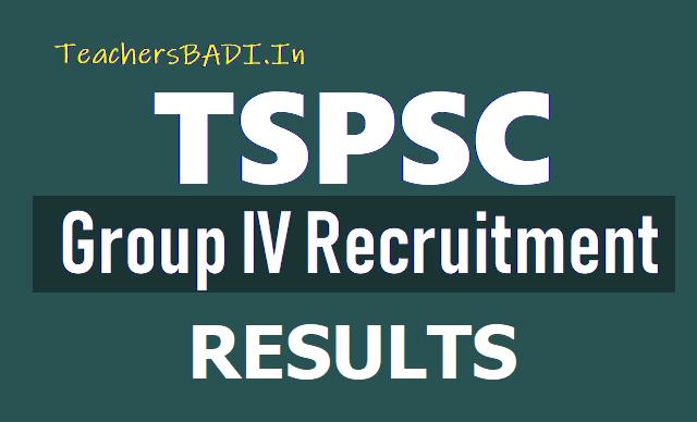 TSPSC Group 4 Merit list Results