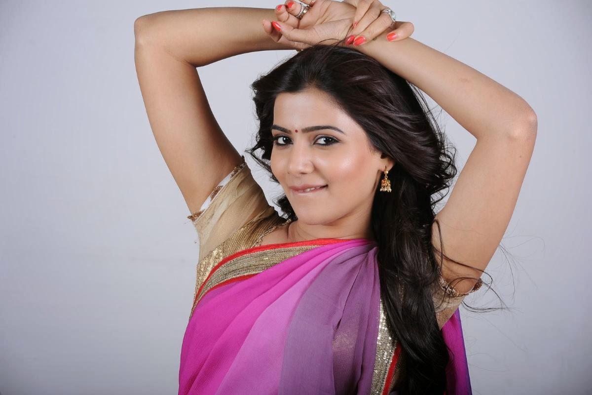 Telugu Heroin Samantha Hot Saree Photos - Cap-6388